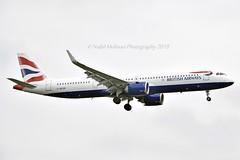 British Airways G-NEOR Airbus A321-251NX cn/8526 1st BA A321N @ EGLL / LHR 17-05-2019 (Nabil Molinari Photography) Tags: british airways gneor airbus a321251nx cn8526 1st ba a321n egll lhr 17052019