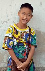 boy in a colorful shirt (the foreign photographer - ฝรั่งถ่) Tags: feb272016nikon boy kid colorful shirt khlong thanon portraits bangkhen bangkok thailand nikon d3200