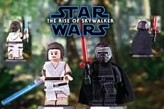 LEGO Star Wars : The Rise of Skywalker - Custom Rey & Supreme Leader Kylo Ren (MGF Customs/Reviews) Tags: lego star wars the rise skywalker rey supreme leader kylo ren daisy ridley adam driver custom minifig minifigure figure fan art painted diy