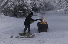 After Christmas . . . (JLS Photography - Alaska) Tags: alaska alaskalandscape cold frozen freezing snow man fire jlsphotographyalaska frosty wilderness winter winterlandscape chores seasons christmas