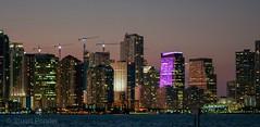 Miami at Dusk (R2DS2) Tags: florida miami keybiscayne unitedstatesofamerica cityscape night skyscrapers waterfront
