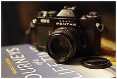 Pentax by Pentax (daveelmore) Tags: pentax pentaxesii asahipentax smctakumar55mm118 35mmslr blackcamera vintagecamera camera cameraporn smcpentax50mm114