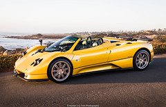 Pagani Zonda S Roadster (Hunter J. G. Frim Photography) Tags: supercar hypercar rare beach pebble car week 2019 monterey carweek pebblebeach carbon coupe pagani zonda yellow v12 roadster manual italian convertible s paganizondas paganizondasroadster