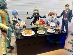 Sweet Treats at the Lab Christmas Party (Sasha's Lab) Tags: a sweet treats cake cookies pastry parfait ice cream fruit pate de choux christmas party greedo rem jeanne d'arc nanoha