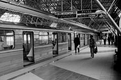 Metro Sofia (Drehscheibe) Tags: metro subway nikonf2 nikkor50mm 35mm film hp5plus blackwhite classicblackwhite bwfp station analogica analog