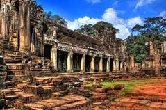 Siem Reap K - Bayon 08 (Daniel Mennerich) Tags: canon dslr eos hdr hdri spiegelreflexkamera slr bayon kamboga angkor siemreap prasatbayon cambodia