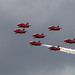 RED ARROWS MAKING THE MOST OF THE OVERCAST