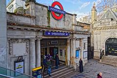 Embankment (Croydon Clicker) Tags: station sign notice people entrance underground tube embankment london westminster nikond5500 sigma1770mm