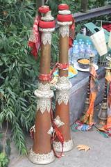 Cows' Horns, Digeridoos, etc. [Natural Trumpets] 17: Dung-Chen (of Tashi Lhunpo Monks) (KM's Live Music shots) Tags: musicalinstrument hornbostelsachs aerophone dungchen tibet tashilhunpomonks geraldinemaryharmsworthpark