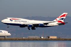 British Airways | Boeing 747-400 | G-CIVW | San Francisco International (Dennis HKG) Tags: aircraft airplane airport plane planespotting oneworld canon 7d 100400 sanfrancisco ksfo sfo britishairways ba baw speedbird gcivw boeing 747 747400 boeing747 boeing747400