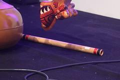 Side-Blown Flutes 15: Venu ( of Aravindhan Baheerathan) (KM's Live Music shots) Tags: musicalinstrument hornbostelsachs aerophone venu indianbambooflute flute india ragaroomsveenaviolinvenu sadlerswells