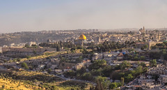 The Old City of Jerusalem (Ray in Manila) Tags: israel jerusalem cityscape view domeoftherock mosque biblical eos650d historical church middleeast holy churchoftheholysepulchre alaqsamosque judaeanmountains asia