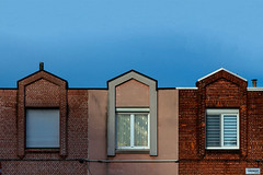 Trio (jefvandenhoute) Tags: belgium antwerp merksem light houses