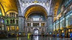 Antwerp, Belgium: Main railway station, Antwerp Centraal (nabobswims) Tags: antwerp antwerpcentraal be belgium enhanced ilce6000 lightroom luminositymasks mirrorless nabob nabobswims photoshop railwaystation sel1018 sncb sonya6000 station