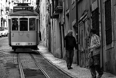 Street (Roi.C) Tags: street candid people peoples train standing walking talking outdoor nikkor nikon d5300 lisbon portugal europe man women monochrome black bw road buildings building 2018 lisboa blackandwhite composition photography photograph photo camera capital city 18140mm urban travel tram perspective frame framing lens lighting interesting digital town image humans persons streetphotography urbanphotography cityphotography