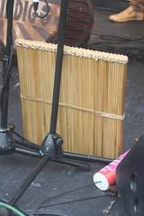 Rattles [Shaken Idiophones] 41: Kayamb (of Lindigo musician) (KM's Live Music shots) Tags: musicalinstrument hornbostelsachs idiophone kayamb raftrattle shaker handpercussion lareunion lindigo thescoop