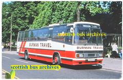 BURMAN TRAVEL OF MILE OAK A618ATV (SCOTTISH BUS ARCHIVES) Tags: a618atv bartontransport leylandtiger plaxtonparamount burmantravel 618