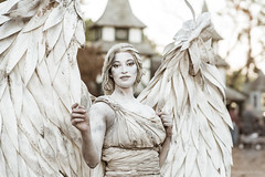 Texas Renaissance Festival 2019 (enigmaarts) Tags: 2019 beckyplexco plantersville renfaire trf texas texasrenaissancefestival christmas cosplay costumes enigmaartsphotography enigmaartscom historicalcostumes history renaissance livingstatue angel white
