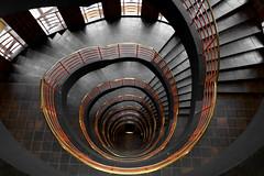 Hamburg Stairs (michael_hamburg69) Tags: hamburg germany deutschland hansestadt michaelhamburg69 treppenhaus stairway staircase stairs cagedescalier escalera vanoscala trombadellescale gabbiadellescale lóutījiān corkscrewstairs flightofwindingstairs helicalstair spiral escaleraespiral geotagged swirl hamburgstairs stairwell wellhole wellmouth treppenauge treppe wendeltreppe handlauf geländer schneckenform architektur handrail 旋梯 sprinkenhof kontorhaus burchardstrasse8 unterwegsmitkathy