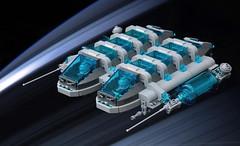 Sky:Tron Thunderhead (The Brick Artisan) Tags: lego space skytron scifi ship spaceman spacecraft spaceship thunderhead classic minifigure minifigures