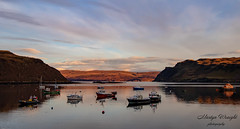 Portree Harbour Sunset - Isle of Skye (Ratters1968: Thanks for the Views and Favs:)) Tags: view landscape beauty scotland highlands grampian scenery culture nature natural scenic mountains mountainous wildlife nationaltrust scottish animals bird birds innerhebrides canon7dmk2 martynwraight ratters1968 canon dslr photography digital eos skye isleofskye portree cuillins clanmacleod clandonald peaks rocks ranges sunset twilight colour cloud dusk dusky evening boats water harbour sea