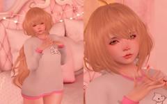 Dekopon Sweater <3 (Eliih1994 Resident) Tags: cute kawaii moe dekopon genus baby face sweater winter adorable pink pastel white bunny kitty okinawa new years