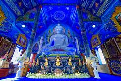 Wat Rong Suea Ten (explore 28/12/19 #142) (Sarah Marston) Tags: watrongsueaten bluetemple chiangrai thailand sony ilce6300 december 2019 buddha buddhism