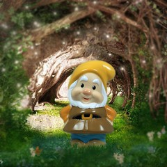 Always Happy-HSoS! (☼☼ Jo Zimny Photos☼☼) Tags: hsos smileonsaturday catchasmile happy dwarf snowwhitethesevendwarfs wallpaper figurine toy photoshop background wallpapercave
