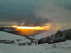 winter sunset Luginsland 2013 (matthias416) Tags: schwarzwald germany deutschland sunset sonnenuntergang clouds wolken snow schnee winter yourbestoftoday nwn blackforest