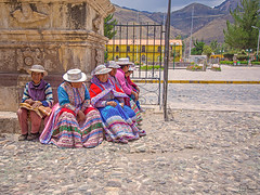 Ladies of Peru (Tony.Brasier) Tags: tonybrasier people peacefull photos peru nikond7200 lovely location lights road rocks raw fantastic canyon grass day flickr