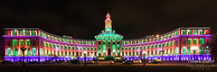 December 27, 2019 - The Denver City and County Building holiday lights. (Tony's Takes)