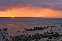 A last sunset over Moorea