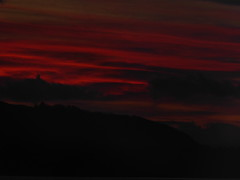 (Julie Rutherford1 ( off/on )) Tags: trees sea mountains clouds dark scotland highlands julie gloomy argyll hills loch rutherford linnhe sky red twilight