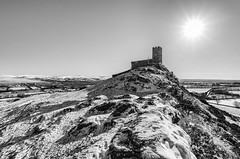 After the Snow - Revisited (Frosty__Seafire) Tags: snow black white blackwhite monochrome brentor devon tor winter weather sun landscape uk england d7000 sigma 1020 dartmoor scene scenic church isolated cold moors nikon