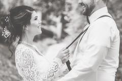 Catch a Smile (amarilloladi) Tags: portraits brideandgroom wedding suspenders catchasmile smileonsaturday smiling smiles weddingphotography lacedress
