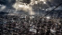 Futur (marcvazart) Tags: france isère grenoble paysage urbain lumière light lignes rayons ville atmosphère nuages soleil pluie bokeh