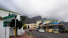 Central Parade (Harold Brown) Tags: architecture campsbay fog landscape outdoor republic sign signboard sonydscw170 southafrica travel bhagavideocom capetown haroldbrowncom harolddashbrowncom highway mountain mountainside outside photosbhagavideocom road westerncape haroldbrown