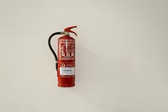 Fire extinguisher (Jan van der Wolf) Tags: map182192v red rood brandblusser simple simpel minimalism minimalistic minimalisme minimal minimlistic fireextinguisher