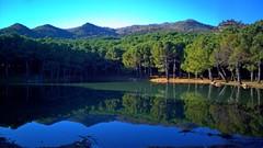 Reflection (tetuani1399) Tags: reflection reflexión national coth5 nature landscape naturaleza paisaje park parque montaña monte montana mountain azul blue trees árboles