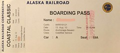 "Boarding Pass Alaska Railroad • <a style=""font-size:0.8em;"" href=""http://www.flickr.com/photos/79906204@N00/49288086347/"" target=""_blank"">View on Flickr</a>"