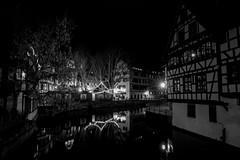 Petite France at night (Roberto Bendini) Tags: france europe strasbourg strasburgo market marché natale noël christmas light lumieres luci città town ville alsace canon 2019 night petite