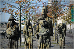 Great Famine ... (Jan Gee) Tags: dublin liffey baks river statues group standbeelden sculptures great famine hongersnood 1847 strokestown