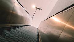 Going up (frankdorgathen) Tags: city urban underground subway essen metro ubahnhof escalator fair ubahn ruhrgebiet rolltreppe ruhrarea ruhrpott rüttenscheid messeessen sony18200mm alpha6000