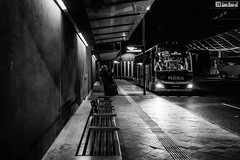 just a cigarette (blende9komma6) Tags: cigarette street hannover germany city art bw sw night nacht people mensch busstop zob urban ricoh gr griii light licht downtown strase stadt