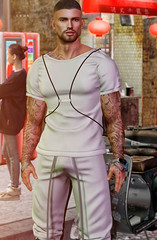 # 00190 (Leon Miranda) Tags: pose solo aesthetic collection anim pack 1 filippo the nexus event || new eyebrows facial hair aesir mario lelutka guy tattoo h o w l i n g ira smart bracelet x band v11 shirt lob match group gift pants tommy man cave