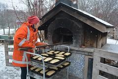Baking bread (hogtown_blues) Tags: toronto ontario canada dufferingrovepark dufferingrove littlebakeoven bakeoven breadbaking baking bread people