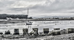 Low Tide in Findhorn Bay (judmac1) Tags: shore bay coast lowtide moray findhorn scotland boat mooring