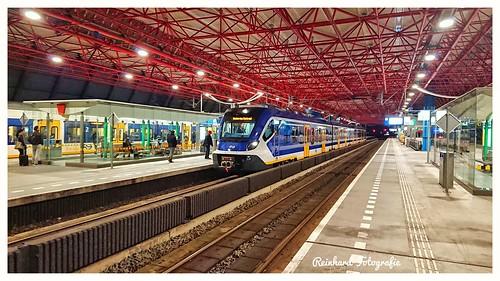 """Nederlandse Spoorwegen """" SNG/CAF-Cifity """" Lelystad-Centrum.( NL)"""