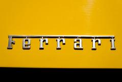 Ferrari Logo (Miguel Ángel Prieto Ciudad) Tags: photography car transportation mode transport closeup land vehicle yellow sports shiny ferrari italian logo sonyalpha alpha3000
