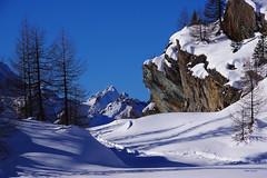 Passaggio a Nord-Ovest. (stefano.chiarato) Tags: montagne alpi alpeprabello neve larici rocce paesaggio pentax pentaxk70 pentaxlife pentaxflickraward